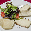 Plate of Italian cheeses