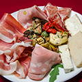 The antipasti plate