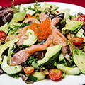 Fresh salad with smoked salmon