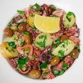 Salade tiède de poulpe à la génoise