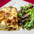 Lasagna with «brousse» cheese, with courgettes/zucchinis and mint (new)