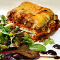 Lasagna, with eggplants, in a tomato sauce (new)
