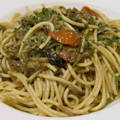 Spaghetti campagnards, à la courgette, à l'oignon rouge et au gorgonzola